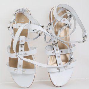 STUART WEITZMAN White Leather Gladiator Sandals